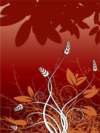 abstractly: Elegant floral design with curves. Also available in vector format.