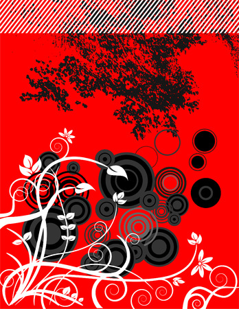 ink stain: An abstract floral grunge vector background with space for text