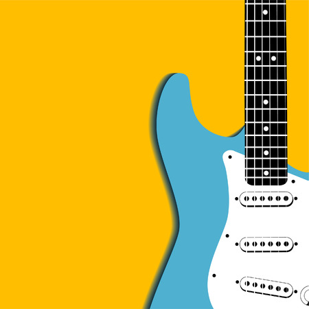 An electric guitar vector background with space for text