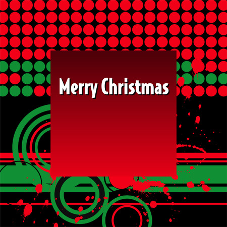 An abstract Merry Christmas background Stock Vector - 4264420