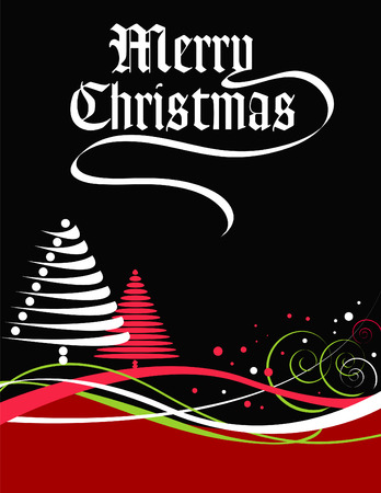 A Merry Christmas vector holiday background Stock Vector - 4264417