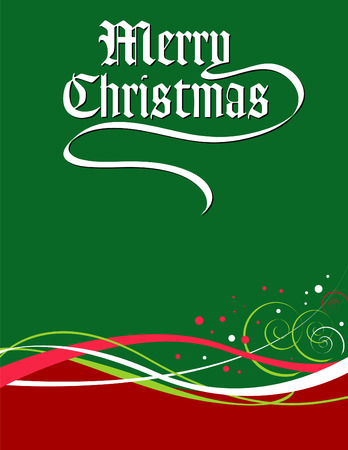 A Merry Christmas vector holiday background Stock Vector - 4264418