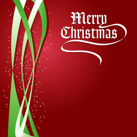 A Merry Christmas vector holiday background Stock Vector - 4264415