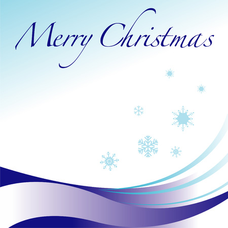 A Merry Christmas vector winter holiday background Vector