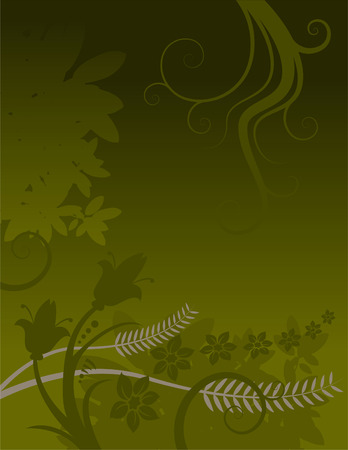 abstractly: Floral grunge Background. Also available in vector format. Has background space for text Illustration