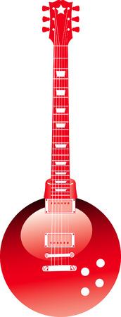 christmas greeting: A Vector Christmas ornament guitar