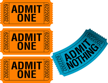 Whimsical tickets Vettoriali