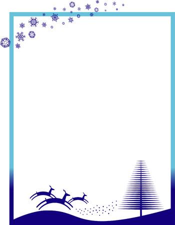 Christmas vector border Vector