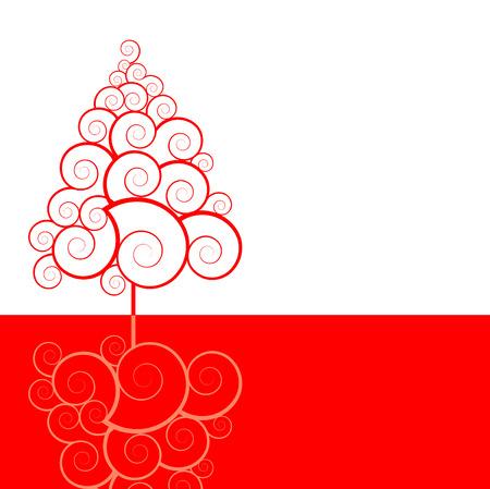 a vector Christmas tree Çizim