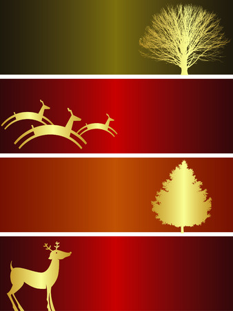 Christmas vector banners with space for your text