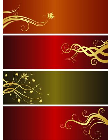 Kerst vector banners met ruimte voor uw tekst