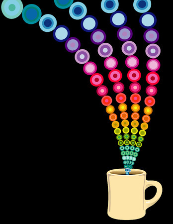 cup: A lively coffee cup