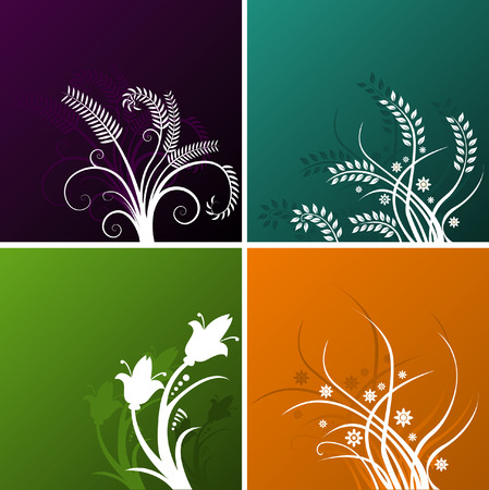 Four vector backgrounds to choose from Illustration