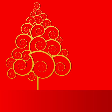 symbol: a vector Christmas tree Illustration