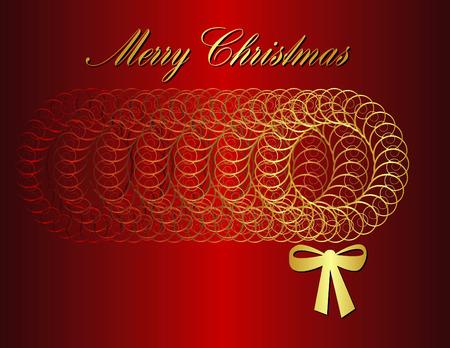 A Merry Christmas vector wreath background Vector
