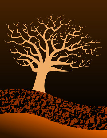 A bare vector tree background with space for text suitable for halloween use Stock Vector - 4428263