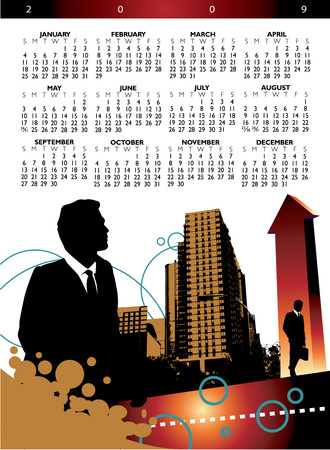 scheduler: 2009 business calendar with space for your company name