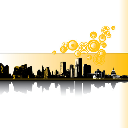 都市グランジ ベクトルの背景  イラスト・ベクター素材