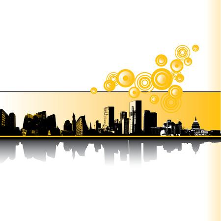 City Grunge vector background Vettoriali