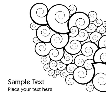curly vector background