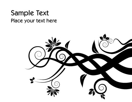 An abstract floral grunge vector background with space for text Vector