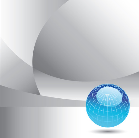 A globe on an abstract vector background with space for your text