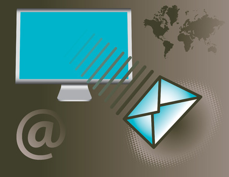 http: Vector background with global email theme
