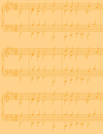 A sheet music vector background, ideal to place text over Illustration