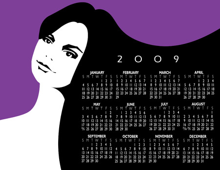 post teen: A beautiful woman is basis for this 2009 calendar