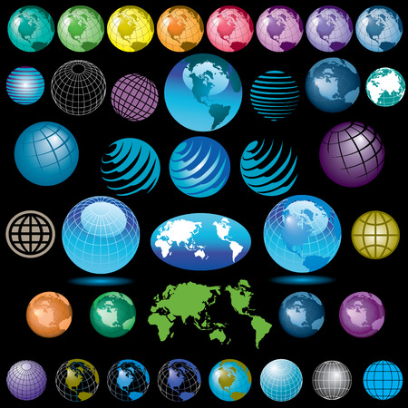 38 vector globes to choose from Illustration