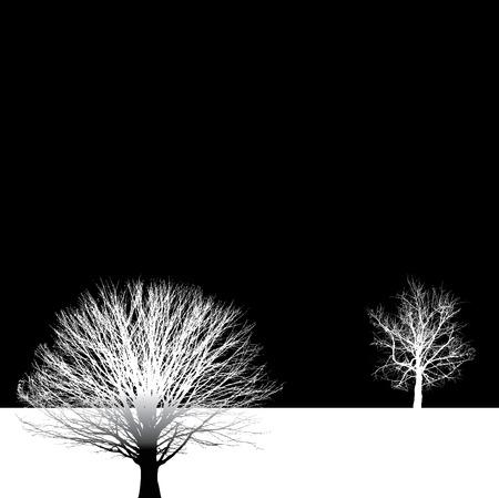 裸木のベクトルの背景