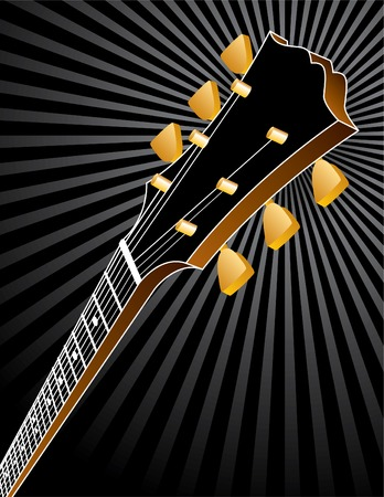 headstock: A tasteful vector music background with a guitar headstock