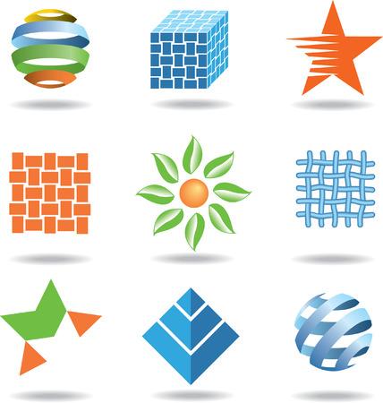 weaves: A set of vector design elements Illustration