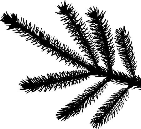 een gedetailleerde vector backgroung van Kerstmis den naalden Stock Illustratie