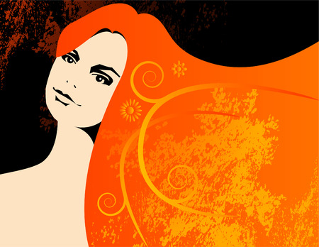 A beautiful vector woman background with space for text Stock Vector - 4437580