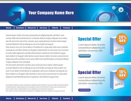 site: Vector web site design template Illustration