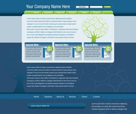 Vector web site design template Illustration