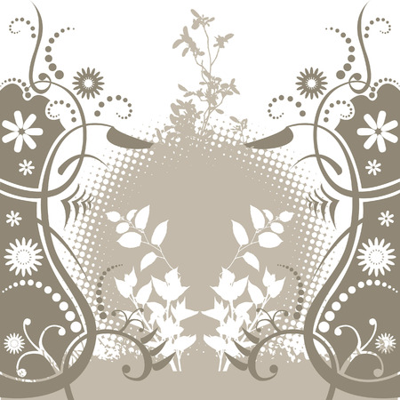 An abstract floral background with space for text Vector
