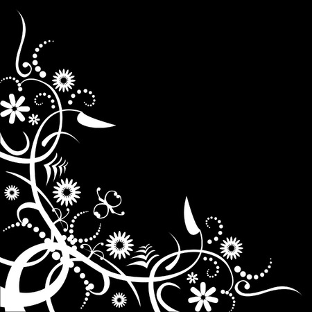 An abstract floral background with space for text Illustration