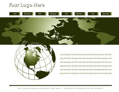 Web site design template Stock Vector - 4522110