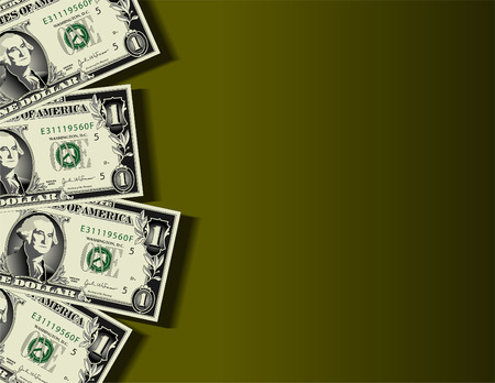 A vector background showing four dollar bills with space for text Stock Vector - 4537026