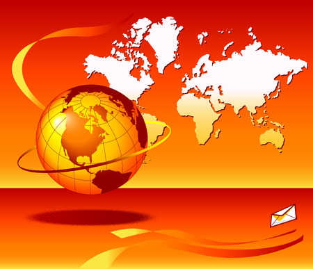 http: Assorted abstract images of planet earth with a global email theme