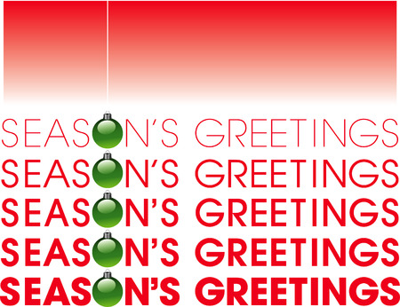 A typographic and illustrational depiction of Season's greetings Stock Vector - 4666674