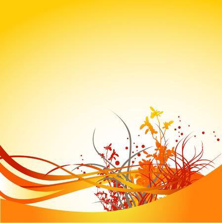 A floral background grunge, con abbondanza di spazio per il testo Archivio Fotografico - 4666704