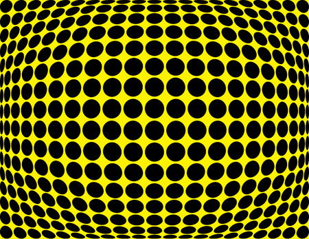 A vector dot bulge in black and yellow