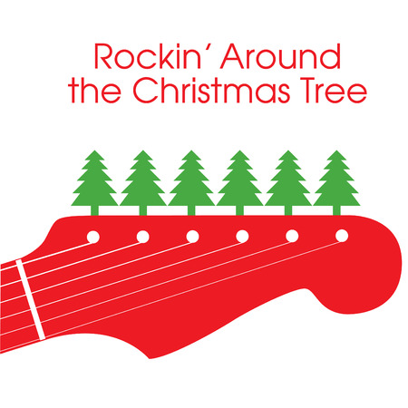 Rockin' Around the Christmas Tree Stock Illustratie