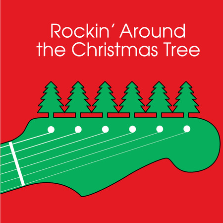 loud music: Rockin' Around the Christmas Tree Illustration