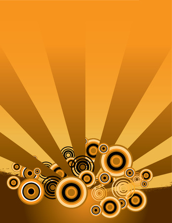 An interesting grunge background in orange and black Vector
