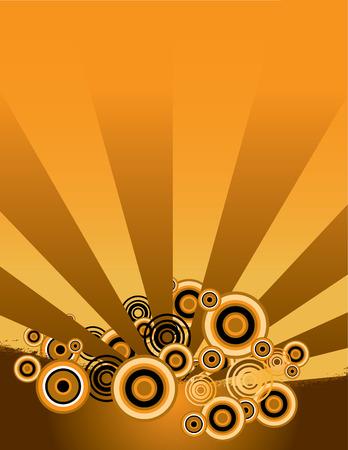 An interesting grunge background in orange and black