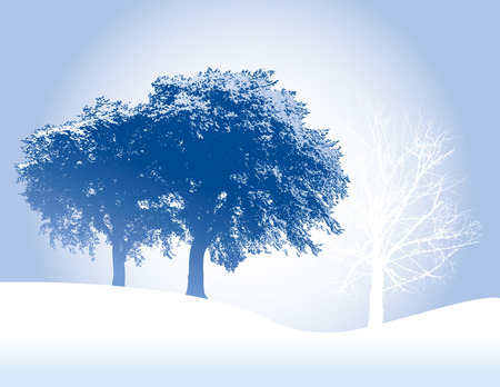 An ethereal, winter, Christmas, holiday background in blue Stock Vector - 4666732
